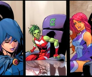 DC, raven, and starfire image