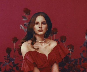 lana del rey, red, and rose image