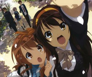 anime, haruhi suzumiya, and suzumiya haruhi no yuutsu image