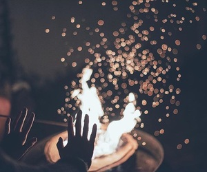 fire, hands, and photography image