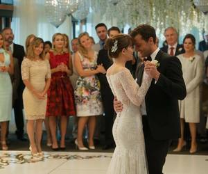 wedding, dakota johnson, and fifty shades freed image