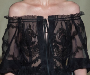 black, blouse, and runway image