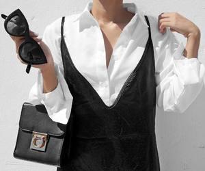 fashion, black and white, and minimalist image