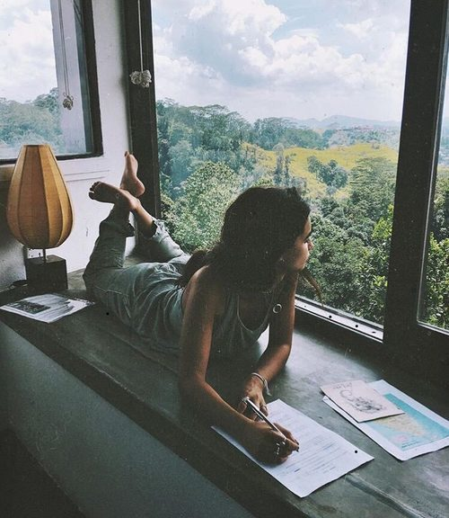 girl, inspiration, and nature image