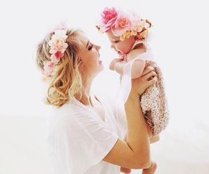 baby, family, and mommy image