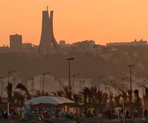 Algeria and sunset image