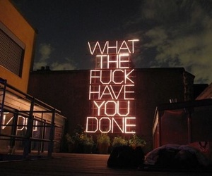neon light, neon sign, and wtf image