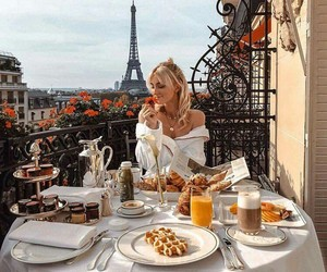 breakfast, paris, and waffles image
