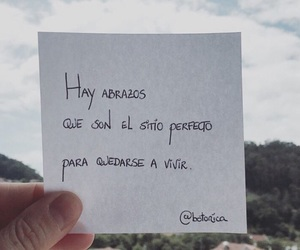personas, frases, and abrazos image