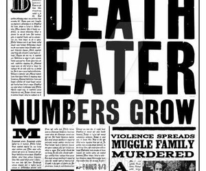 harry potter, death eater, and daily prophet image