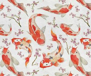 fish, pattern, and wallpaper image