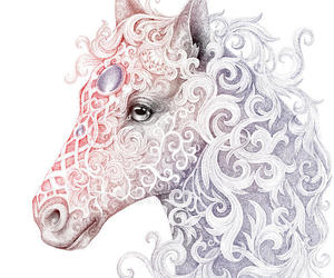 art, fantasy, and horse image