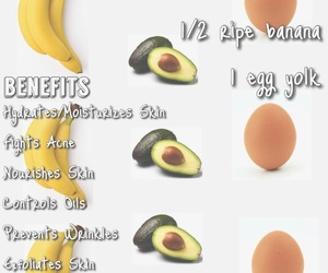 acne, avocado, and face mask image