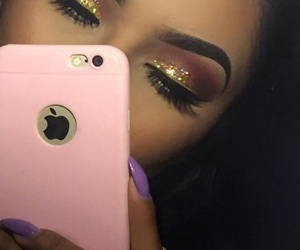 glitter, eyebrows, and makeup image