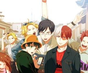 boku no hero academia, izuku midoriya, and ochako uraraka image