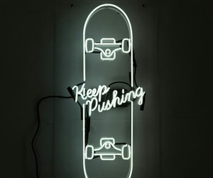 neon, light, and skate image