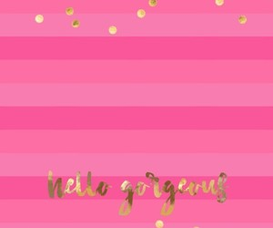 glitter, gold, and hello image