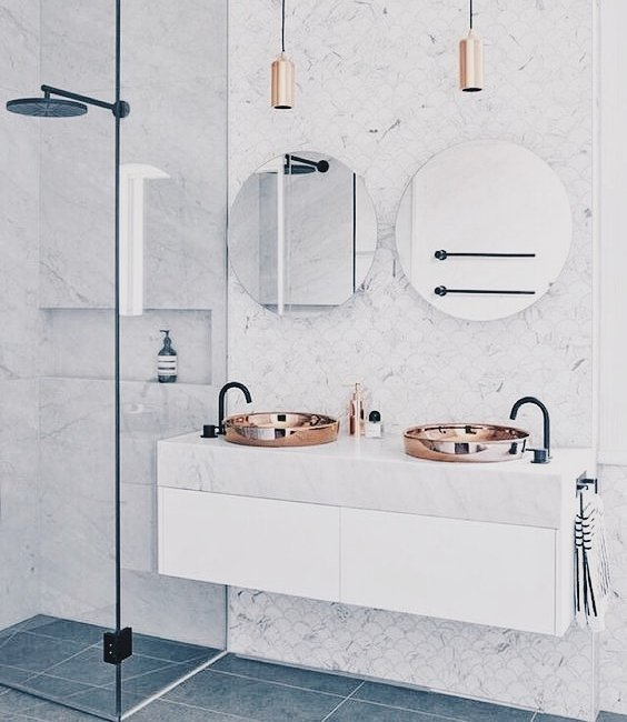 home, bathroom, and white image