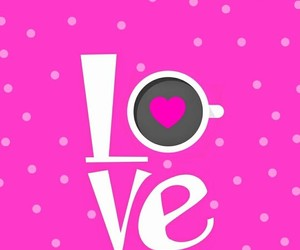 coffee, dots, and pink image