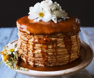 cake, food, and crepes image