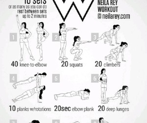 fit, sport, and workout image