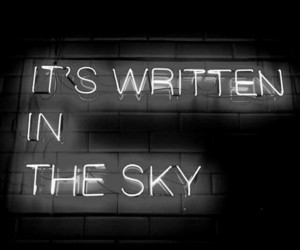 quotes, neon, and sky image