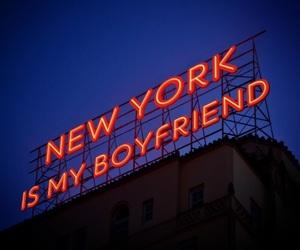 city, neon, and new york image