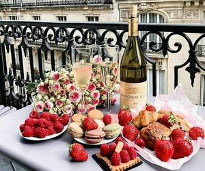 champagne, food, and luxury image