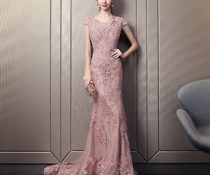 evening dress, elegant dress, and girl image