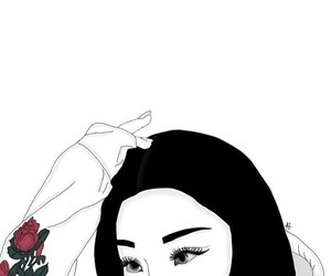art, tumblr girl, and draw image