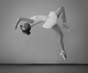 aesthetic, ballet, and black and white image