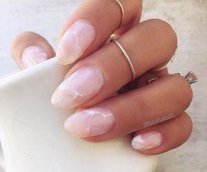 nails, marble, and nail art image