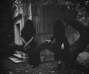 dark, creepy, and gothic image