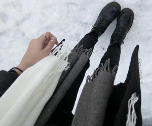 grunge, tumblr, and snow image