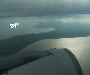 aesthetic, airplane, and bye image