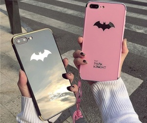 iphone, pink, and batman image