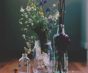 bottle, colors, and flowers image