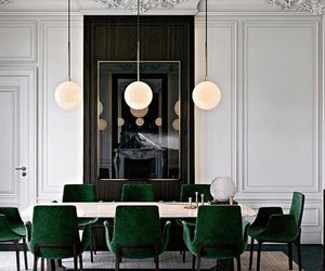 art, dining room, and emerald image