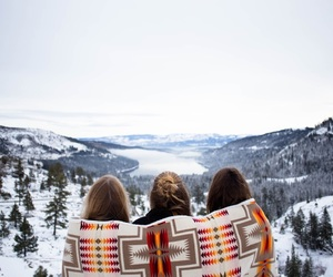 friends, winter, and girl image