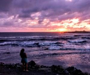 sunrise and beach image