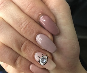 eye, nails, and Nude image