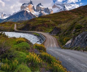amazing, autumn, and road image
