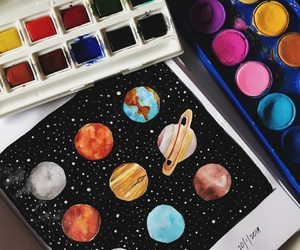 beautiful, painting, and planets image