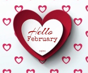february, hello february, and love image