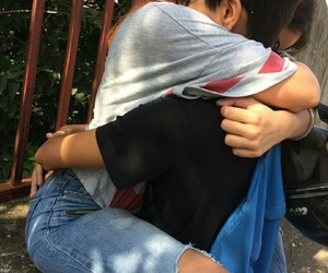 hug and school image