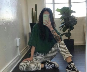 outfit, green, and aesthetic image