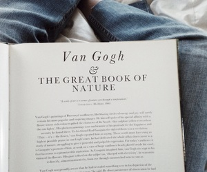 van gogh, book, and jeans image