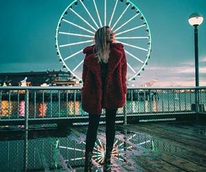 dreamy, ferris wheel, and girl image