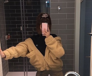 girl, selfie, and style image