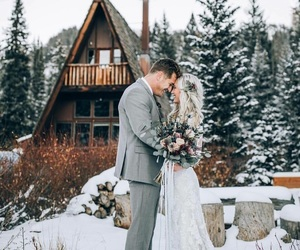 couple, december, and wedding image